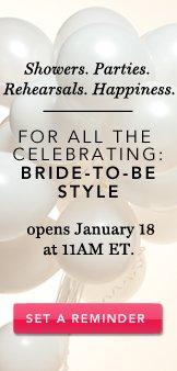 Bridal. Set A Reminder.