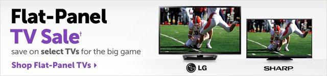Flat-Panel TV Sale+ save on select TVs for the big game - Shop Flat-Panel TVs