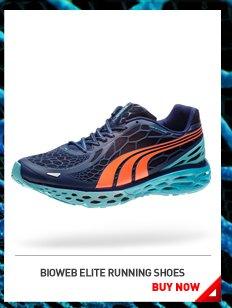BIOWEB ELITE RUNNING SHOES - TWILIGHT BLUE-FLUO PEACH-BLUE CURACAO