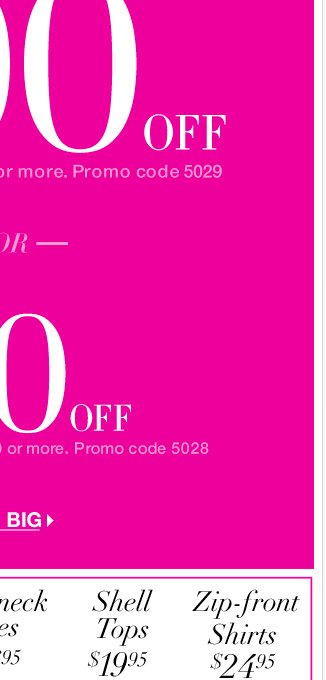 Our best coupon! $100 off $200 or $50 off $100! Use on NY&C Great Finds in stores and online - SHOP NOW!
