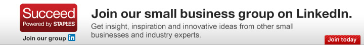 Join our  small business group on LinkedIn. Get insight, inspiration and  innovative ideas from other small businesses and industry experts. Join  today