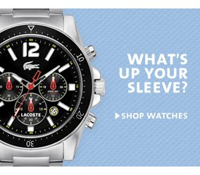 WHAT'S UP YOUR SLEEVE?. SHOP WATCHES