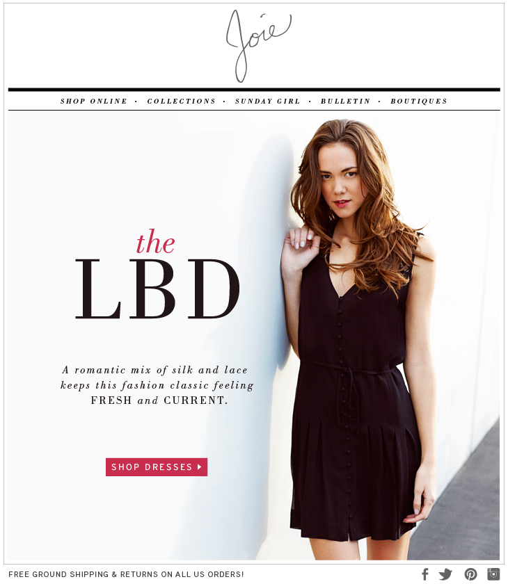 the LBD A romantic mix of silk and lace keeps this fashion classic feeling FRESH and CURRENT. SHOP DRESSES>