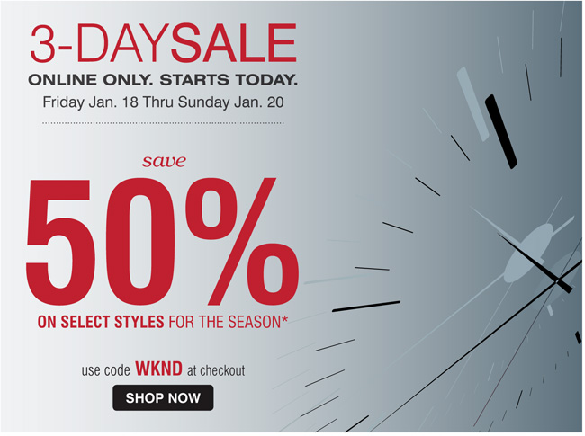 Shop the 3 Day Sale