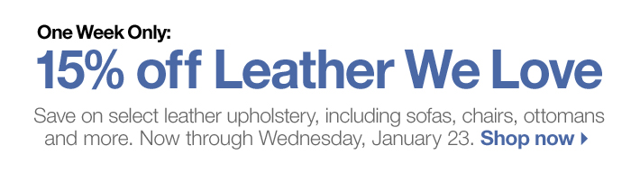 One Week Only: 15% off Leather We Love