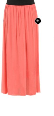 Solid Chiffon Maxi Skirt - Shop Now