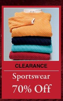 Clearance Sportswear - 70% Off