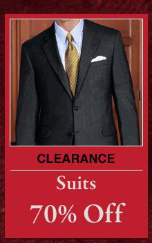 Clearance Suits - 70% Off