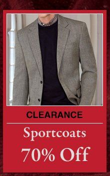 Clearance Sportcoats - 70% Off