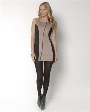 Sara Boo Asymmetrical Zipped Mini Dress