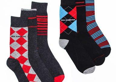 Shop Pull Off Plaid: Ben Sherman Socks