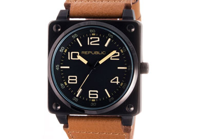 Shop Leather Band Republic Watches & More