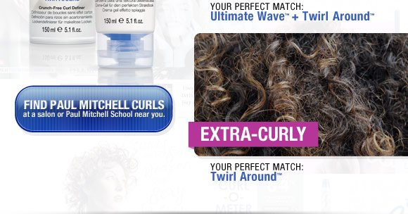 Help salon guests find their perfect Paul Mitchell Curls styling product for their hair type.