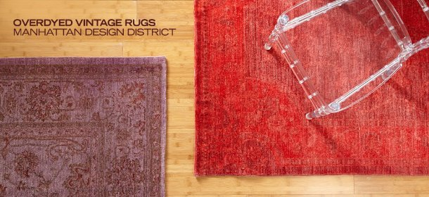 OVERDYED VINTAGE RUGS: MANHATTAN DESIGN DISTRICT, Event Ends January 22, 9:00 AM PT >