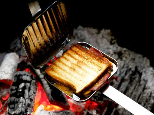 Don't you just love a good panini? Now you don't have to go all the way to Italy to have a good one. You can make them right at home. This grill is wonderful! It works over a gas flame on your cooktop or over an outdoor or indoor grill.