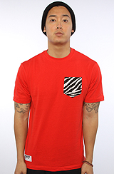 The Zebra Pocket Tee in High Risk Red