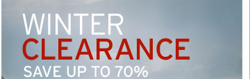 Winter Clearance. Save up to 70%
