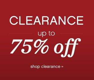 Clearance up to 75% off. Shop clearance.