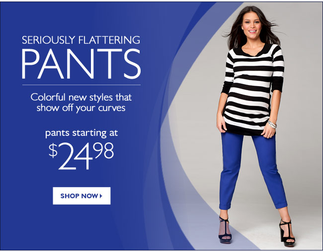 Seriously Flattering PANTS: Colorful new styles