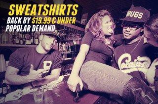 Back By Popular Demand: Sweatshirts Under $19.99