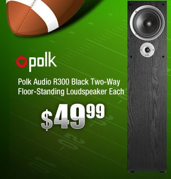 Polk Audio R300 Black Two-Way Floor-Standing Loudspeaker Each