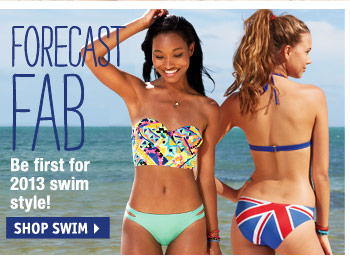 Be first for 2013 swim  style!