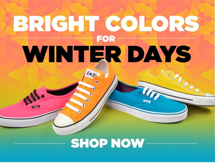 Shop Bright Colors for Winter Days!