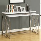 Glossy White Console Table Set