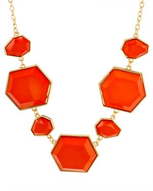 Zad Facet Resin Geometric Necklace