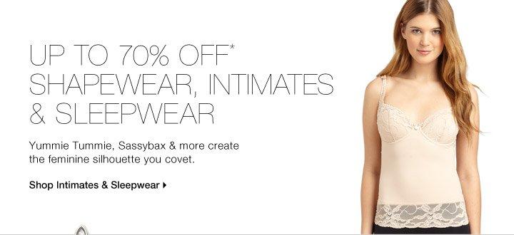 Up To 70% Off* Shapewear & Intimates