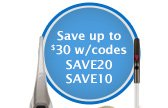 Save up to $30 w/codes SAVE20 SAVE10