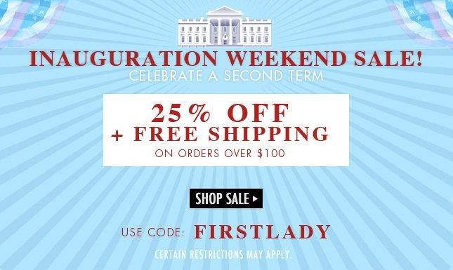 Save 25% + Free Shipping