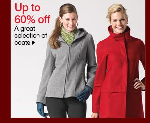 Up to 60% off A great selection of coats