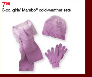 7.99 3-pc. girls' Mambo® cold-weather sets