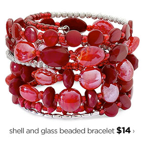 shell and glass beaded bracelet $14 ›