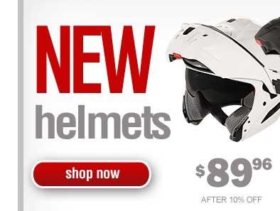 New Model Helmets - 10% off