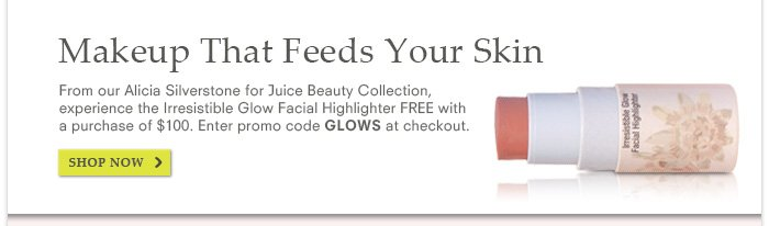 Irresistible Glow Facial Highlighter FREE with $100 purchase. Promo code: GLOWS