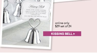 Kissing Bell Place Card Holder