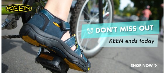 Last day for great deals on KEEN!