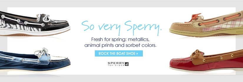 So very Sperry. ROCK THE BOAT SHOE