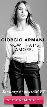 Giorgio Armani. Set A Reminder.