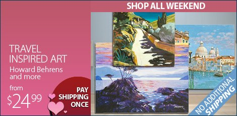 Travel Inspired Art - Featuring Howard Behrens and more