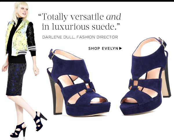 Totally versatile and in luxurious suede. Shop Evelyn