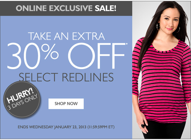 Online Exclusive - Take An Extra 30% Off Select Redlines