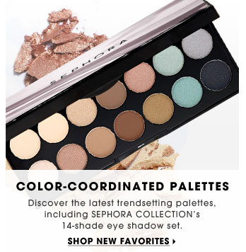 Color-Coordinated Palettes. Discover the latest trendsetting palettes, including SEPHORA COLLECTION's 14-shade eye shadow set. Shop new favorites