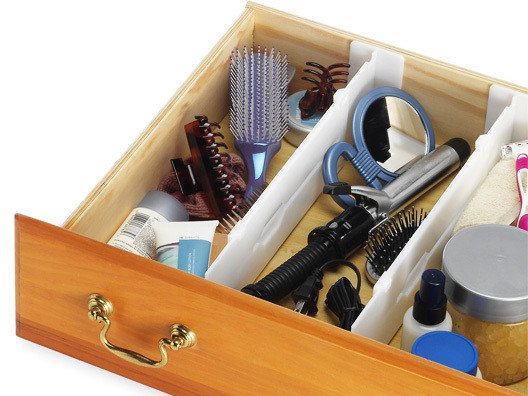 It's designed to expand in order to accommodate any drawer size which means anyone can have organized drawers in a matter of minutes.