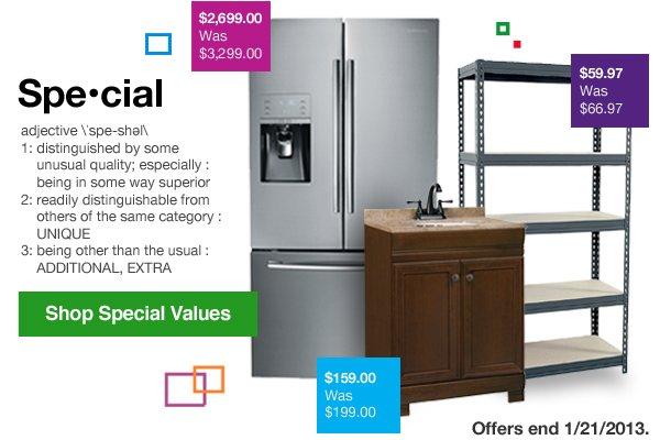 Shop Special Values