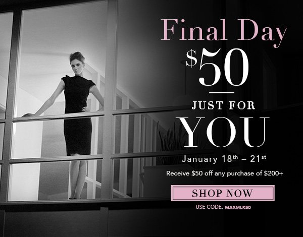 MaxStudio $50 off $200 Final Day