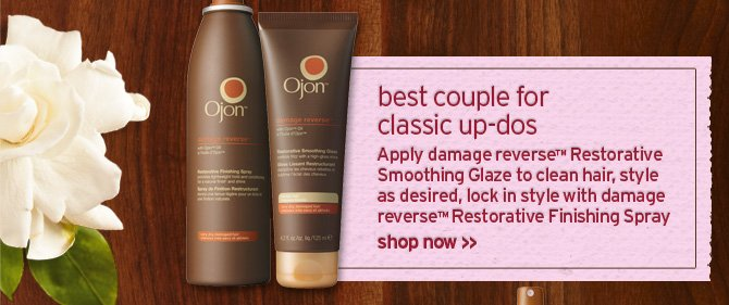 best  couple for classic up dos Apply damage reverse Restorative Smoothing  Glaze to clean hair style as desired lock in style with damage reverse  Restorative Finishing Spray SHOP NOW