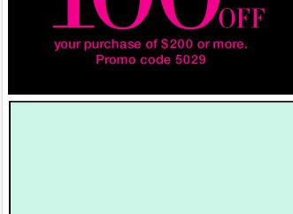 Last day! $100 off $200 or $50 off $100! Valid in stores and online - SHOP NOW!